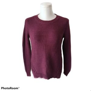 Sears knit sweater with side slits A27